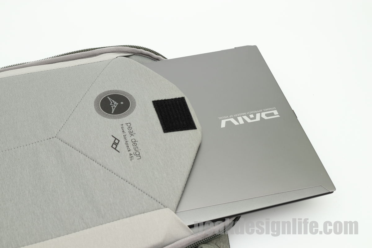 PC収納ポケット トラベルバックパック45L Travel Backpack - Peak Design ピークデザイン