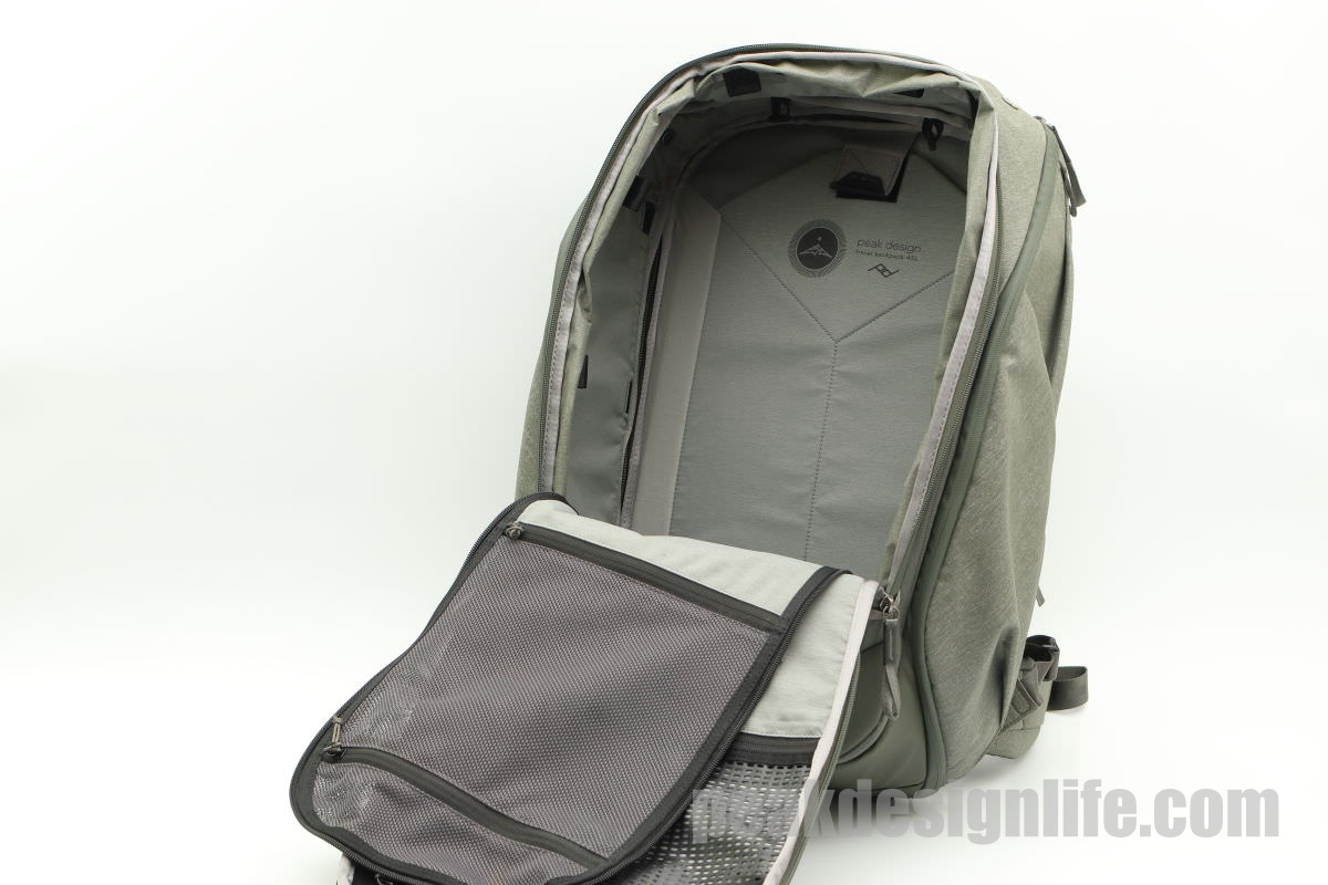 前面を開ける トラベルバックパック45L Travel Backpack - Peak Design ピークデザイン