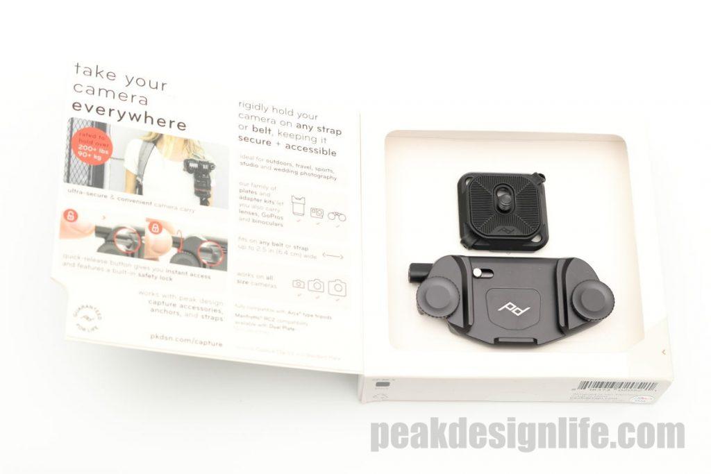 ピークデザイン キャプチャーの商品パッケージ