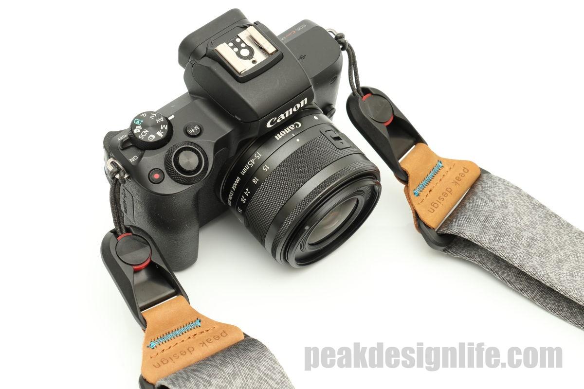 ピークデザインのスライドとカメラEOS Kiss M