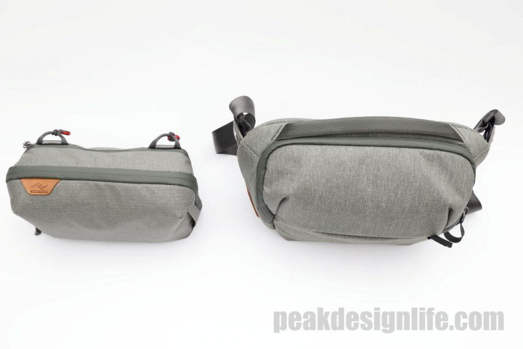 ピークデザインのテクポーチとエブリデイスリング5Lの比較