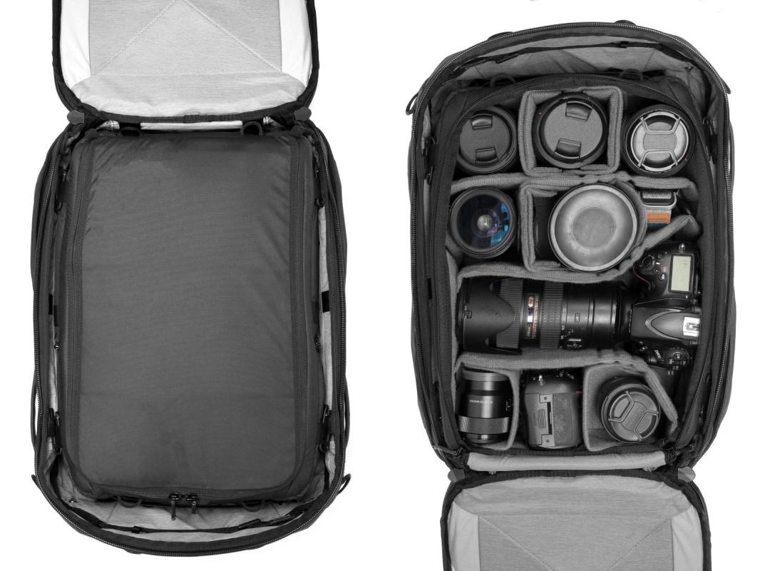 カメラキューブLをトラベルバックパックに収納