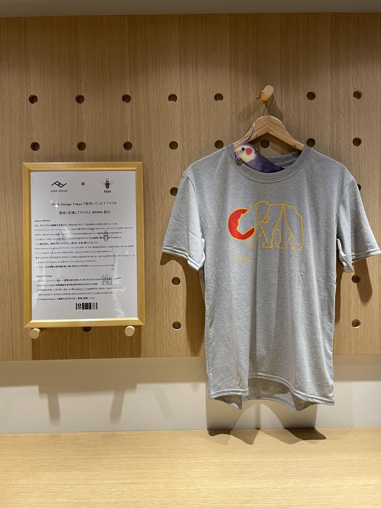 Peak Design Tokyo限定のプリントTシャツ